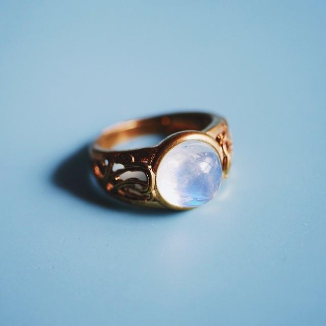 レインボームーンストーン リング(指輪)
