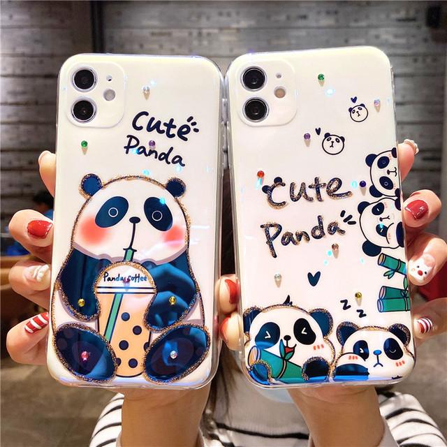 【雲灝シリーズ】★携帯ケース★ パンダ iPhone 12 mini Pro ProMax 11 Pro ProMax XR X/XS XS Max 7/8 7plus 8plus