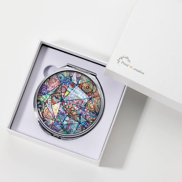 天然貝 コンパクトミラー(ハーモニー)|シェル 螺鈿アート|母の日ギフト