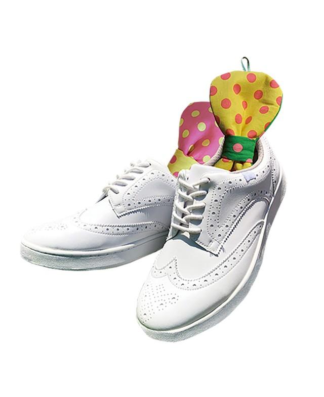 【 DRYING RIBBON /ドット柄 】シリカゲル使用の靴専用乾燥・脱臭剤リボン型シューキーパー