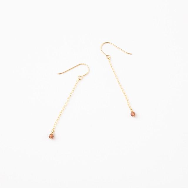 14kgf pierce【 garnet ・ chain hook 】