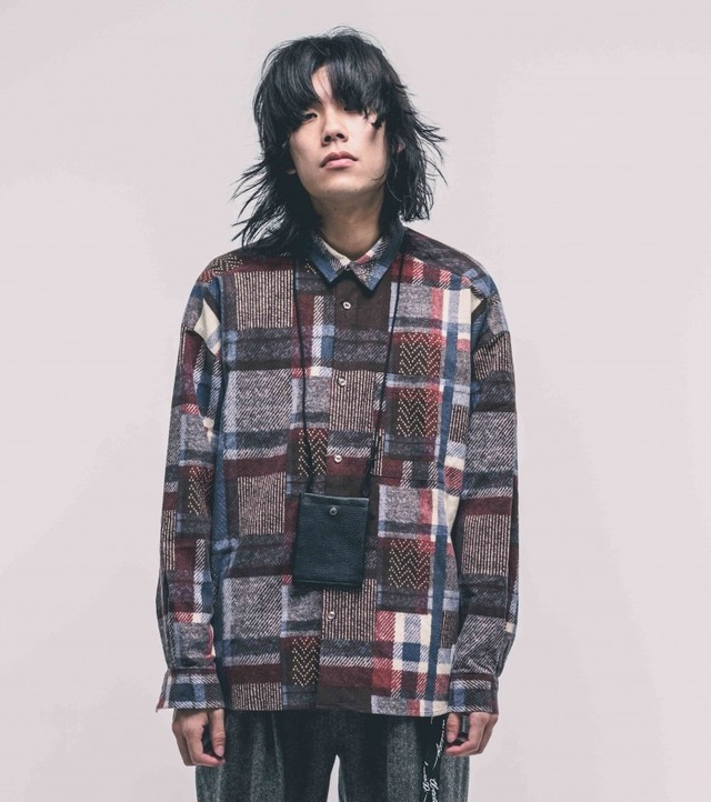 EFFECTEN(エフェクテン) HARD BLEACH BLOCK CHECK SHIRT