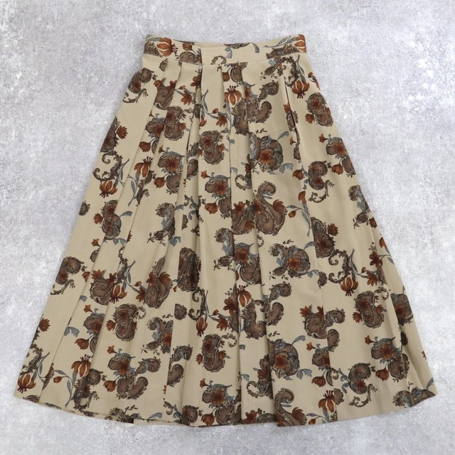 Flower retro design skirt