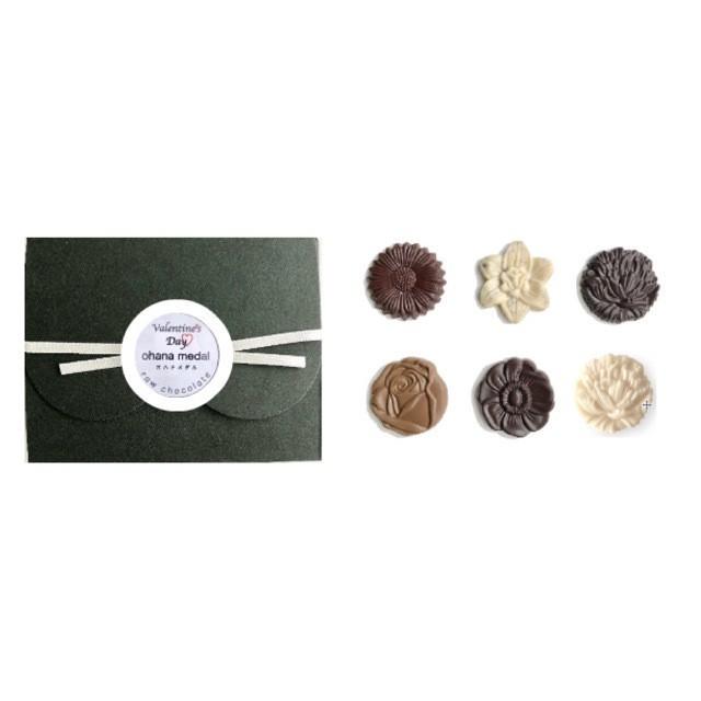 【2019バレンタイン 】Valentine's box ohana medal 6 /vegan white raw chocolate & raw chocolate