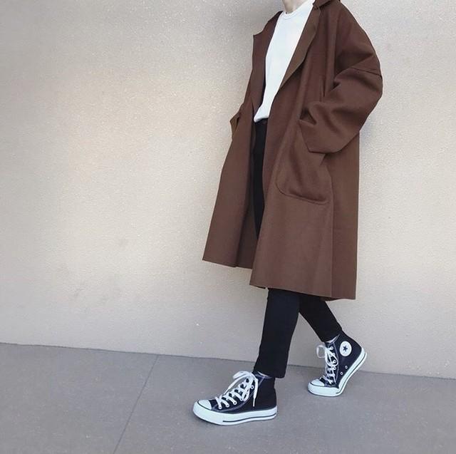 ウールコート オーバーサイズ 2色