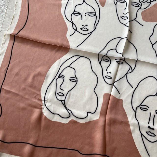 TOPANGA Accessory アートスカーフ ラフペイント