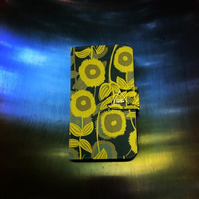 『sunflower』 手帳型iPhoneケース【完全オーダー生産】