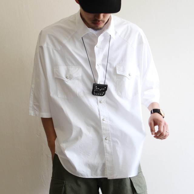KAPTAIN SUNSHINE【 mens 】check band collar shirts