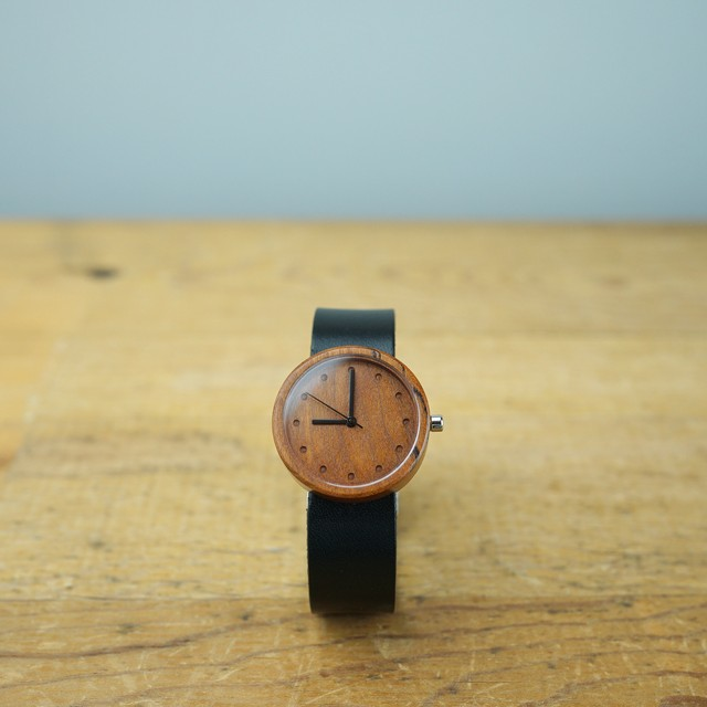 Cherry wood - Organic leather - M