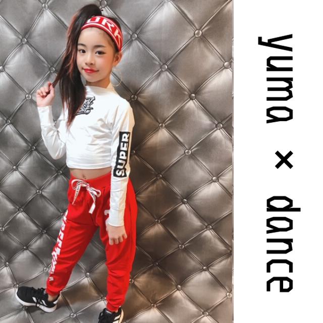 【Yuma×dance】110~180cm ★ ショート丈 トップス × ボトムス セットアップ ダンス着