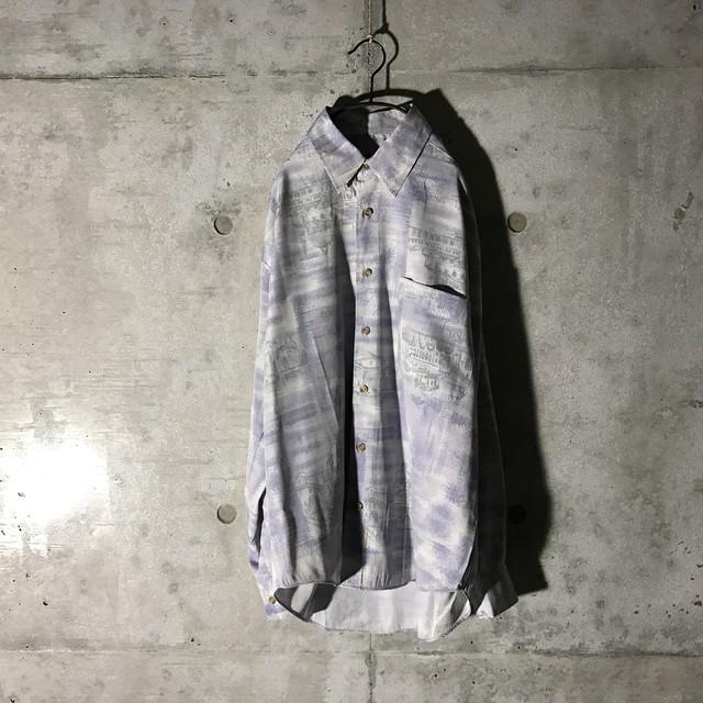 [used] thin purple designed shirt