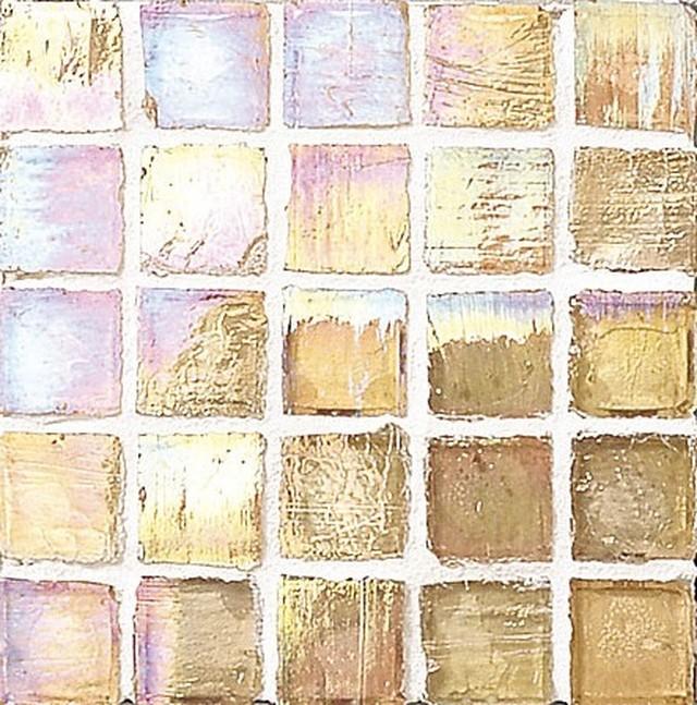 Staind Grass Mosaic【Latte/Pearl】ステンドグラスモザイク【ラテ/パ-ル】