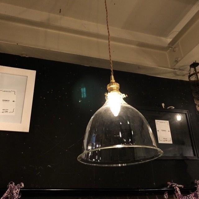 ガラスシェードランプ ベル