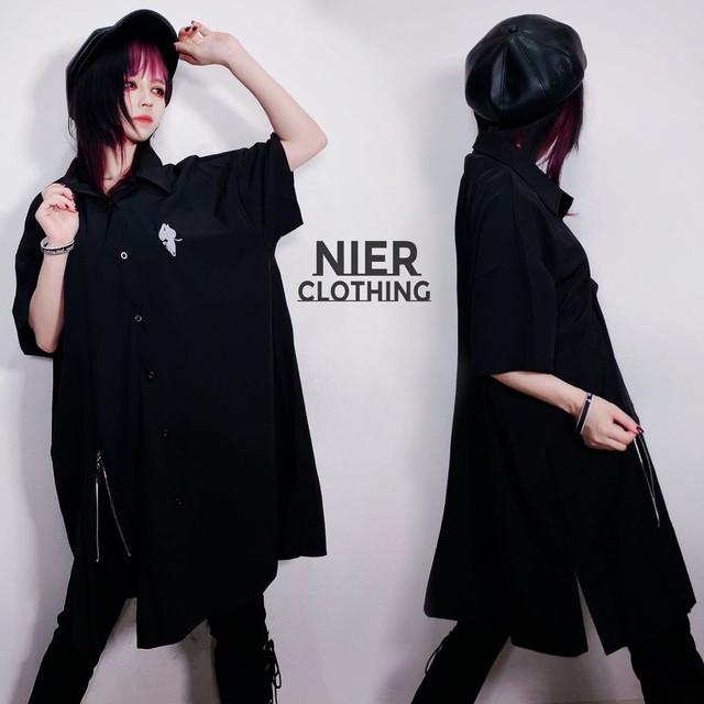 裾ZIP付き LONG SHIRT OUTER