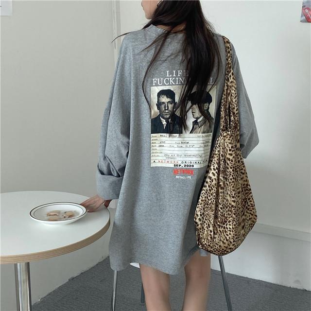【レディース】オーバーサイズバックグラフィックTシャツ
