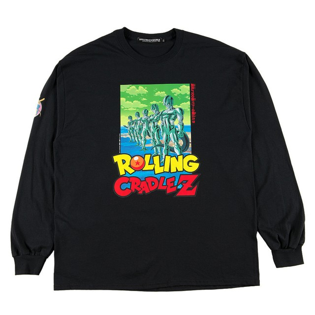 ROLLING CRADLE (ロリクレ) | RCxDRAGON BALL Z LONG SLEEVE SHIRT / Black