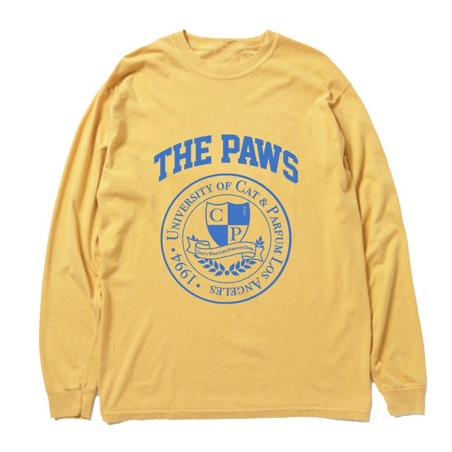 【Cat & Parfum】THE PAWS University Vintage Long Sleeve