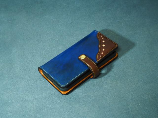 長崎県E様オーダー iPhone8専用ウィングチップStyleスマートフォンケース