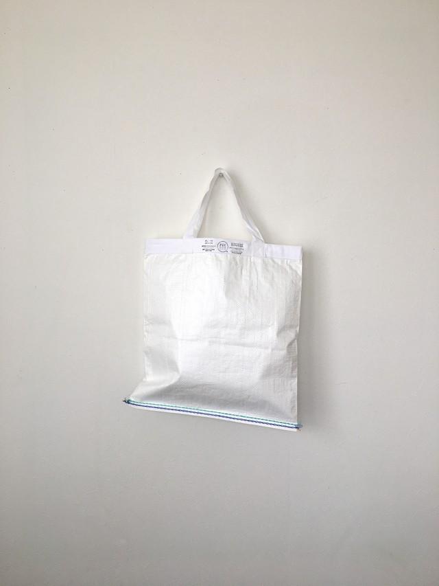 ショッピングバッグ ホワイト M Shopping Bag White 42x39(PUEBCO)