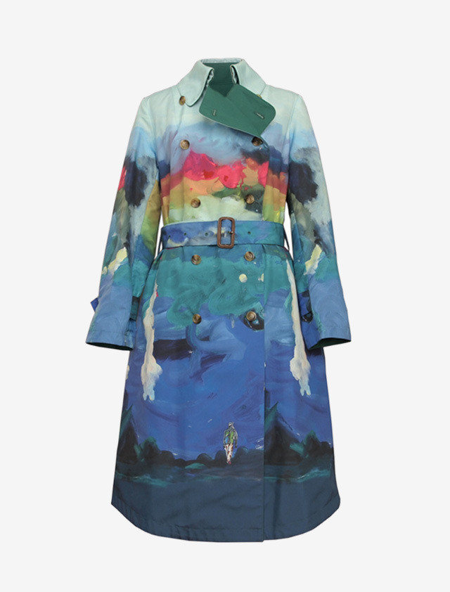 TSUMORI CHISATO REVERSIBLE TRENCH COAT