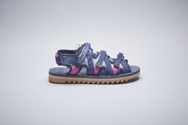 SUICOKE ZIP Velcro Sandals Navy OG-229/ZIP