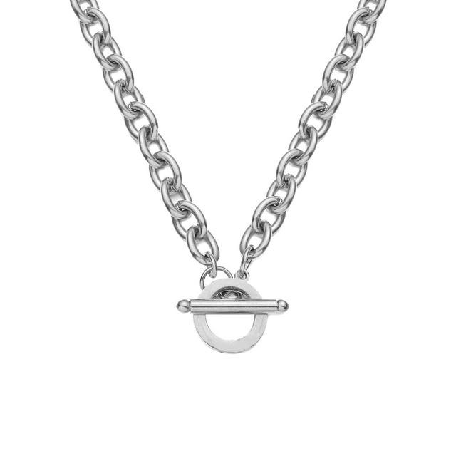 316L Toggle Chain Necklace 【SILVER】