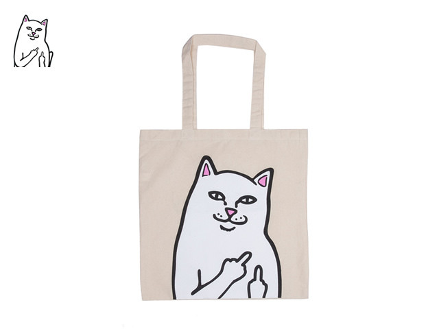 RIPNDIP|OG LORD NERMAL TOTE BAG (NATURAL CANVAS)