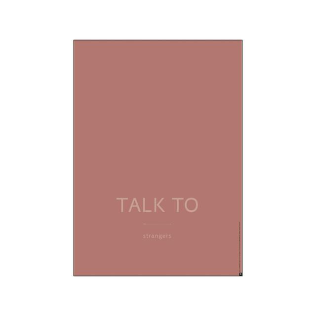 【送料無料対象】PLTY - Poster - TALK TO Strangers(A3サイズ)