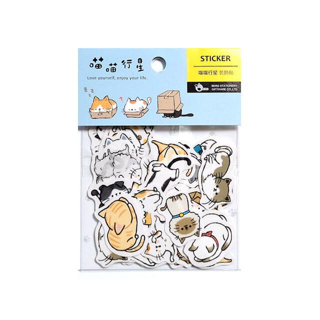 台湾 ステッカー 猫猫行星