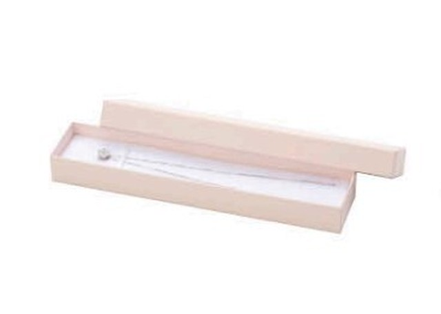 アクセサリー紙箱かぶせ式タイプ ネックレス・ブレスレット台紙付き 10個入り PC-372-N