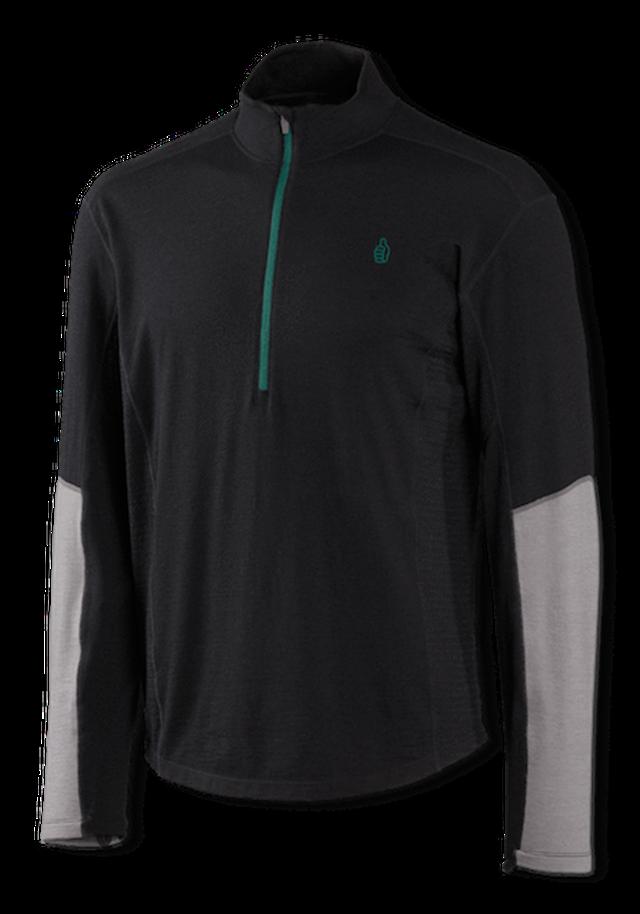 TREW - Nuyarn®メリノ 薄手セーター 1/4ジップ ブラック(メンズ)