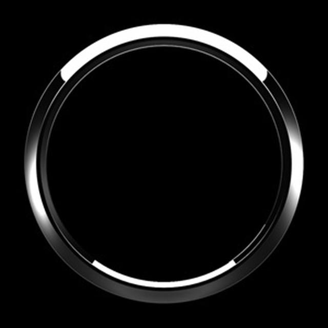 ゴーバッジ グリルバッジホルダー交換用リング(クローム) - メイン画像