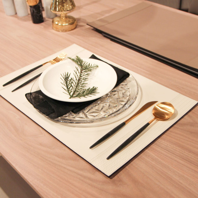 Pinetti Rectangular Placemat With Side Straps / Firenze(レクタングルプレイスマットウィズサイドストライプ/フィレンツェ)093-061
