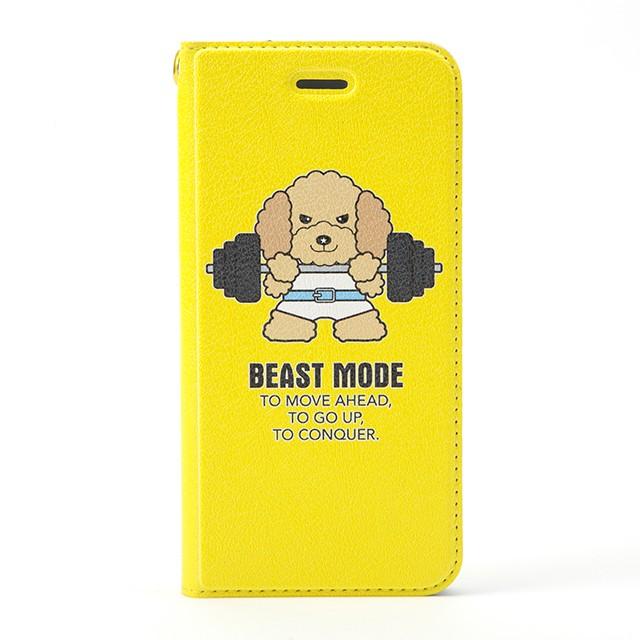 【BEASTMODE】 帯なし手帳型スマホケース バーベル トイプードル