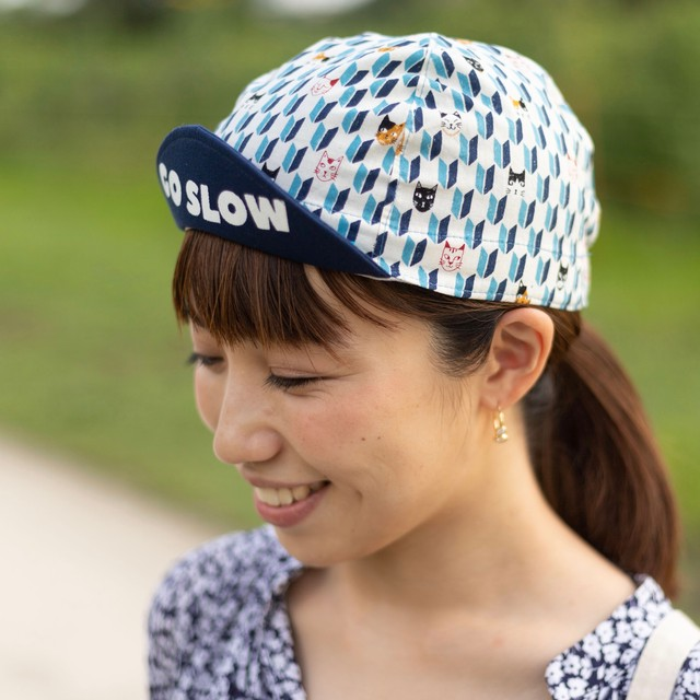 *FRAME* Cycle Cap_CATS (BLUE) / サイクルキャップ _猫柄(青)