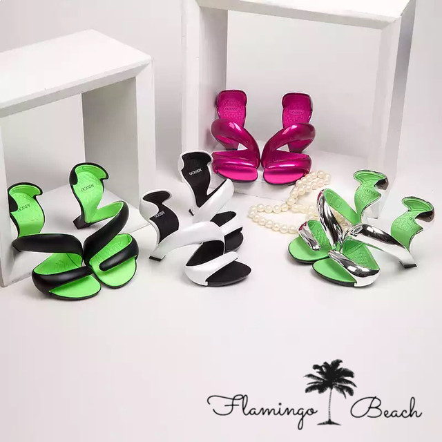 【FlamingoBeach】snake pumps