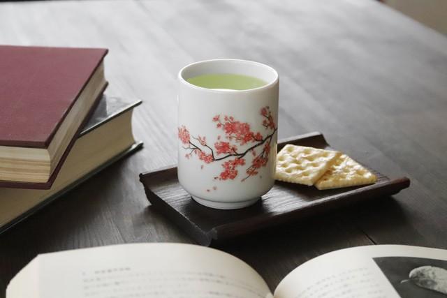 『 温感 桜 湯呑 』 春 お茶 演出 マジック インスタ映え 感動 茶 贈り物 誕生日 プレゼント