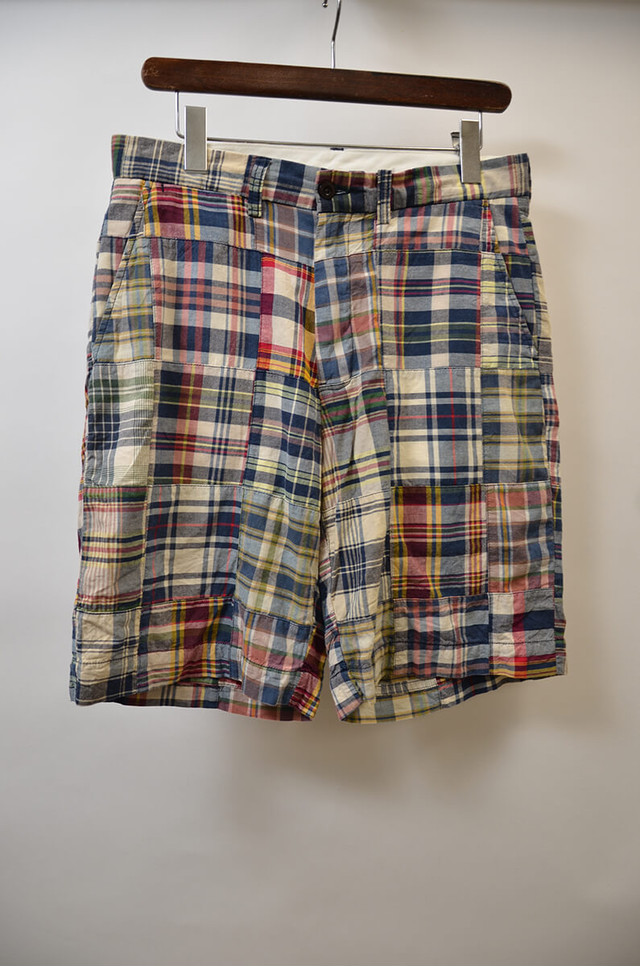 【w30】POLO RALPH LAUREN ポロラルフローレン  MADRAS PLAID PATCHWORK SHORT パッチワークショーツ MULTI 400613190608