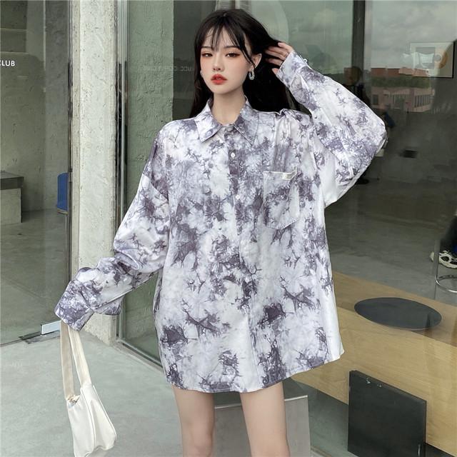 【トップス】韓国系長袖シングルブレストPOLOネックシャツ40364414