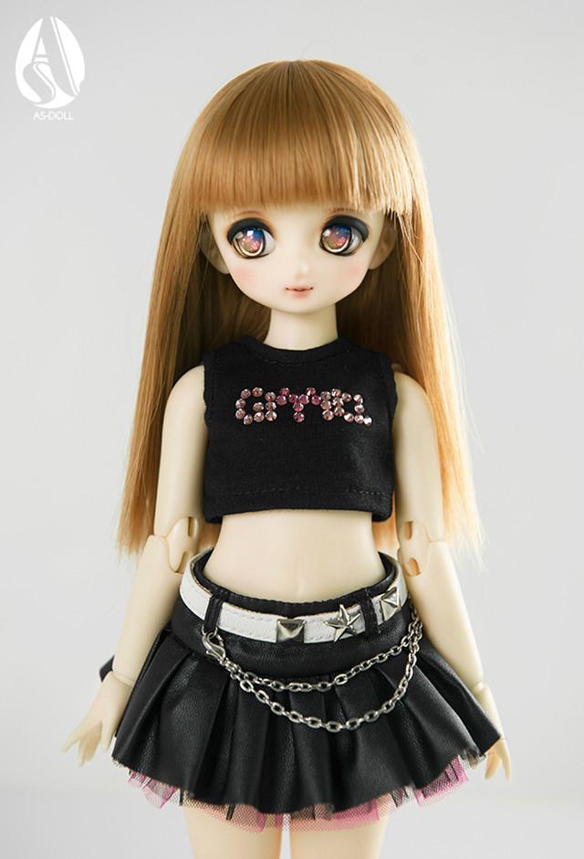 即納⭐️1/6薄茶色直長髪 幼SDサイズ ウイッグ