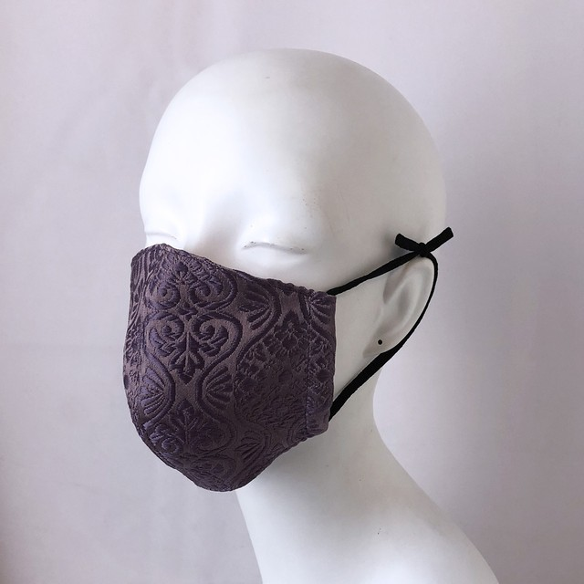 西陣織マスク紫