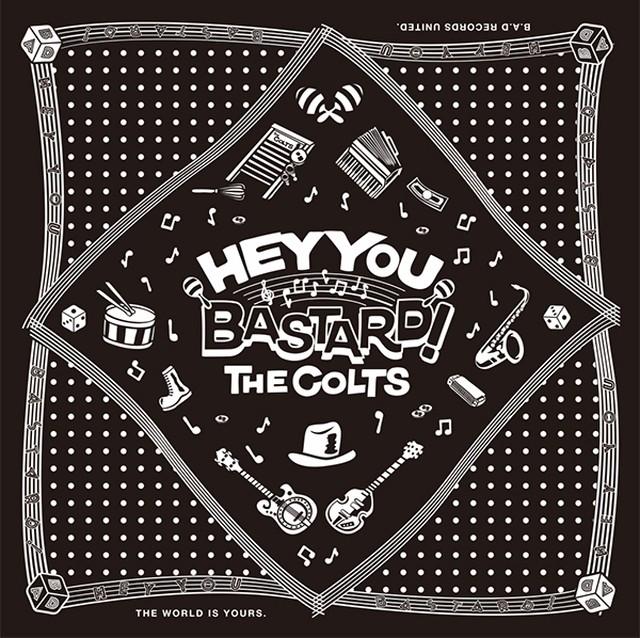 ★THE COLTS・オリジナル「HEY YOU BASTARD!」バンダナ RVCG-11
