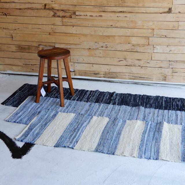 デニム裂き織りキッチンマット 50×180cm 全3種