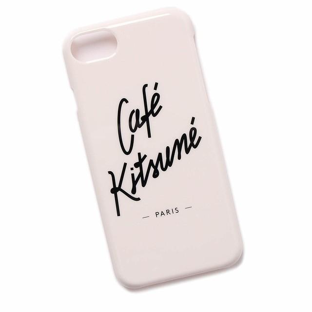 MAISON KITSUNE(メゾンキツネ) cafe kitsune アイフォンケース iphone7/8 アイフォン7/8 ホワイト CASE [全国送料無料] r014639