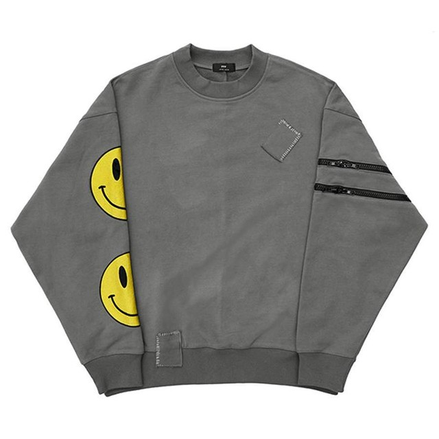 DON CARE Smily Sweat Shirts GRAY