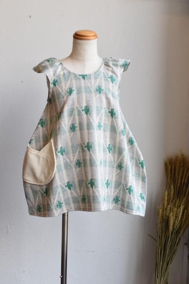 【ワンピース】sora no oto/ブルー/original textile