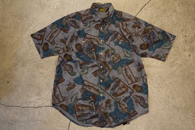 USED 80s Eddie Bauer S/S shirt -Medium S0542