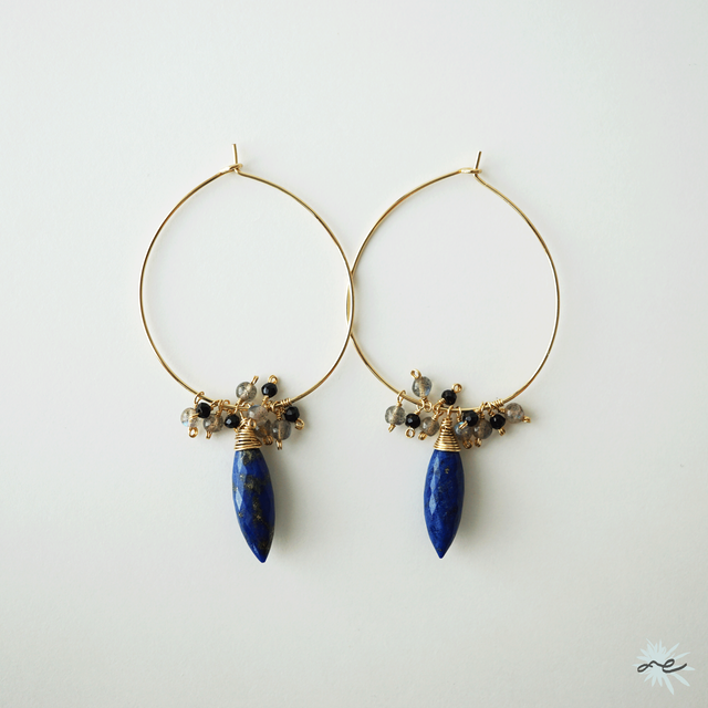 Lapis lazuli・Hoop