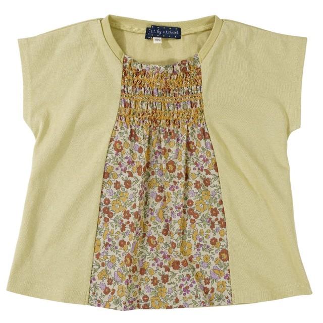 Little s.t. by s.t.closet スモッキングTシャツ