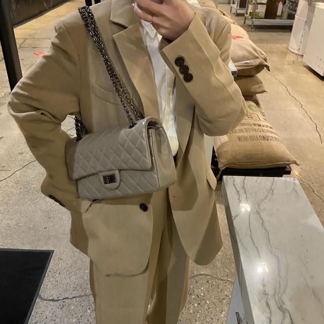 DAYNYC flap bag(gray)